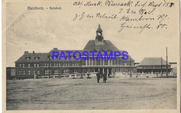 132000 GERMANY HAMBORN THE STATION TRAIN FELDSPOST POSTAL POSTCARD - Allemagne