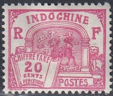Indo China, Scott #J54, Mint Hinged, Dragon Of Annam, Issued 1927 - Segnatasse