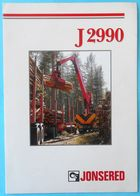 JONSERED 2990 ( Husqvarna ) Forestry Crane - Old Sales Brochure * Grue Forestière Forstkranich Gru Forestale Sweden - Non Classés