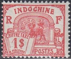 Indo China, Scott #J56, Mint Hinged, Dragon Of Annam, Issued 1927 - Segnatasse