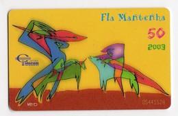 CAP VERT REF MV CARDS CPV-28 50U FLA MANTENHA Année 2003 - Kaapverdische Eilanden
