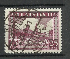 LETTLAND Latvia 1928 Michel 140 A WM Normal Horizontal O Nice Cancel RIGA - Lettland