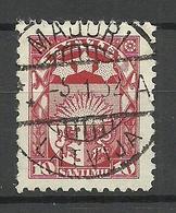 LETTLAND Latvia 1927 Michel 119 O MAJORI Perfect Cancel - Lettland