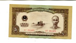 NORTH VIETNAM 5 DONG 1958 UNC 4.95 - Vietnam