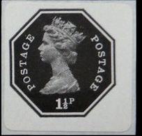 GREAT BRITAIN 1974 EII Machin Octagon 1st 1½p Imperf 1p Red [PRINT:1000] GB - Grossbritannien