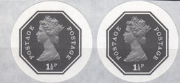 GREAT BRITAIN 1974 E2 Machin Octagon 1½p Ser.III IMPERF.PAIR [PRINT:1000] - Grossbritannien