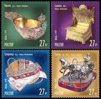 Russia, 2018, Mi. 2593-96, Treasures Of Russia, Jewellers, MNH - 1992-.... Federation