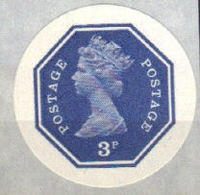 GREAT BRITAIN 1974 E2 Octagon 3p Ser.III IMPERF.[PRINT:1000] - Grossbritannien