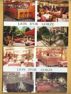 2 C.P.M. De GORZE - Hostellerie Du Lion D'OR - Andere Gemeenten