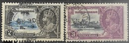 Trinidad & Tobago  1935   Sc#43 2c & 46 24c  Jubilees  Used   2016 Scott Value $23 - Trinidad & Tobago (...-1961)
