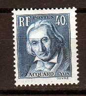 1934 Timbre De France Joseph Marie Jacquard N°295 Neuf** - Ongebruikt