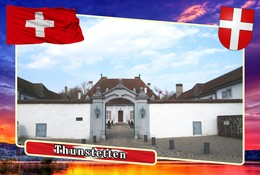 Postcard, REPRODUCTION, Municipalities Of Switzerland, Thunstetten - Landkaarten