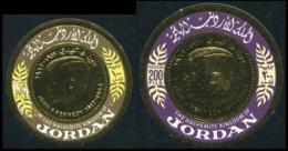 No. 646-647 Jordan 1967 MNH Gold Stamps - Jordanie