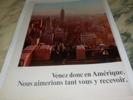 ANCIENNE PUBLICITE VENEZ DONC EN AMERIQUE 1967 - Advertenties