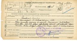 ALLIER TELEGRAMME OFFICIEL GUERRE 1939 / 1945 A ETUDIER VOIR LE SCAN POUR LA DESCRIPTION - Documents Historiques