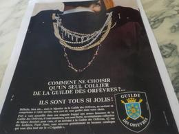ANCIENNE PUBLICITE COMMENT CHOISIR  CHEZ GUILDE DES ORFEVRES  1967 - Bijoux & Horlogerie