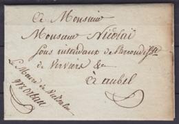 L. Datée 8 Octobre 1816 Du Maire De VIELSALM Pour Intendant De L'Arrondissement De Verviers à AUBEL - 1815-1830 (Dutch Period)
