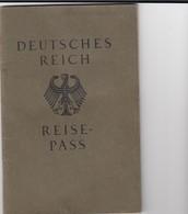 Deutsches Reich, Reisepaß, Sehr Viele Reisen: Schweiz, Spanien, Italien, England 1933-37 - Germany