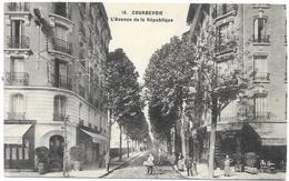 COURBEVOIE : L'AVENUE DE LA REPUBLIQUE - Courbevoie