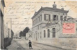 BILLANCOURT : LA RUE DU VIEUX PONT DE SEVRES - Boulogne Billancourt