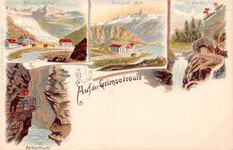 Auf Dem Grimselroute - Litho - Grimsel - Rhonegletscher - Handeggfall - VS Valais