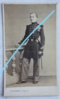 CDV Photo ABL Sous Officier ? Officier ? Belge Circa 1875 Photographe Duchatel Tournai Belgische Leger Soldat Oorlog - Anciennes (Av. 1900)