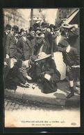 AK Èclipse De Soleil Du 17 Avril 1912, On Noircit Des Verres, Sonnenfinsternis - Sterrenkunde