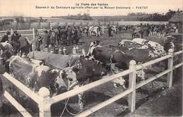 C P A LA TRAITE DES VACHES 76] Seine Maritime > Yvetot CONCOURS AGRICOLE - Yvetot
