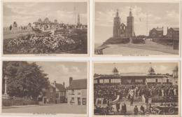 27640 Ten 10 Post Carts  HERNE BAY -east Cliff, Beach, Kings Hall, Tower Gardens, War Memorial Village, Bandstand Towers - Other