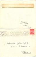 POSTE NAVALE Sur AVISO « ANCRE » BREST FINISTERE OMec RBV Du 11-8-1952 - Marcophilie (Lettres)