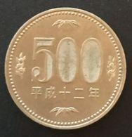 JAPON - JAPAN - 500 YEN 2000 - Heisei - Year 12 - KM 125 - Japan