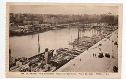 CPA 76 . LE  HAVRE . VUE D'ENSEMBLE . BASSIN  DU COMMERCE . BATEAUX . - Le Havre