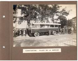 Constantine - Place De La Brêche - 2 Photos (17cm X 11cm) Collées Sur Carton Recto Verso - Constantine