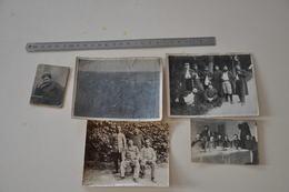 Lot De 5 Photos Uniforme Képi Militaire - War, Military