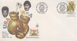 Enveloppe   BOPHUTHATSWANA    Championnat  Du  Monde  De   Boxe   WEAVER - COETZEE   1980 - Pugilato