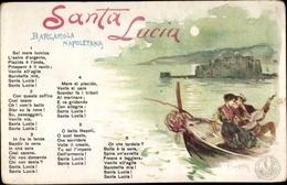 Chanson Artiste Lithographie Scopetta, P., San Ferdinando Napoli Neapel Campania, Santa Lucia - Italia