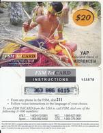 MICRONESIA - Kaday Village Traditional Dress Making, FSM Tel Prepaid Card $20(reverse 2), Used - Micronésie