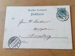 K9 Deutsches Reich Ganzsache Stationery Entier Postal P 36I Von Bartschin Nach Bromberg - Germania