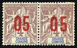 * + 22+22a. Bloc De 4. + 23a. + 24a. + 25a. + 28a. + 29+29a. TB. - Grote Komoren (1897-1912)