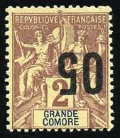 * 05 Sur 2c. Surcharge Renversée. TB. - Grote Komoren (1897-1912)