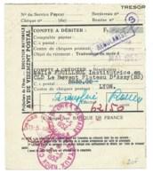 CHEQUES POSTAUX LYON & ROUEN  / 1952 / AVIS DE VIREMENT POSTAL / PREFECTURE DE L'ORNE - Documents De La Poste