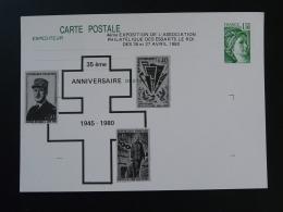 Entier Postal Carte Sabine De Gandon De Gaulle Seconde Guerre Mondiale 78 Les Essarts Le Roi 1980 - De Gaulle (Général)