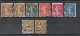 1932 - 1937 Timbre De France Type Semeuse Camée N°277A à 279B Neuf** - 1906-38 Semeuse Camée