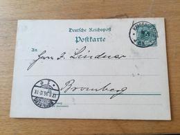 K9 Deutsches Reich Ganzsache Stationery Entier Postal P 36I Von Kaisersfelde Nach Bromberg - Allemagne