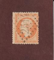 23 De 1862  - Oblitéré - Type Napoléon III . Empire  Franc. 40c . Orange  - 2 Scannes - 1862 Napoléon III.