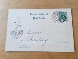 K9 Deutsches Reich Ganzsache Stationery Entier Postal P 36I Von Samotschin Nach Bromberg - Allemagne