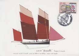 Carte  Maximum  1er   Jour    FRANCE   Musée  Du   Bateau     DOUARNENEZ    1988 - Schiffe
