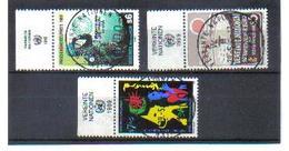 MOO272 UNO WIEN 1989  Michl  91 + 94/95 Mit TABS  Used / Gestempelt Siehe ABBILDUNG - Oblitérés
