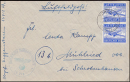 Feldpost 1A Flugzeug Postfach 16710 Brief TURKA/GALLIZIEN 19.4.41 Nach Mühlried - Occupation 1938-45