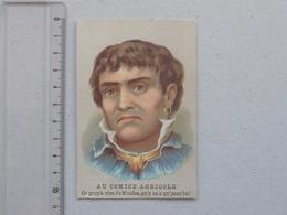 GRENELLE  CHROMO TICKET DE CHAISE Boucherie BRABANT: Portrait Homme NICOLAS - Concert Du RANELAGH JAVEL  PASSY-MUETTE - Chromos